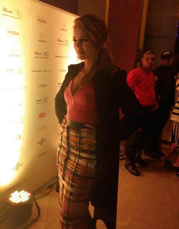 Paolla Oliveira no Rio Moda Rio (Foto: GNT)
