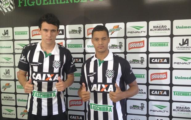 Pablo Jean Carlos figueirense apresentação reforços atacante  (Foto: Marcelo Silva)