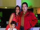 Faustão faz festa para o filho caçula em São Paulo
