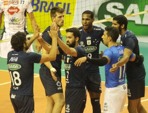 Vôlei Taubaté x Cruzeiro Copa Brasil  (Foto: Alexandre Arruda/CBV)