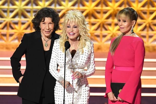 As atrizes LillyTomlin, Dolly Parton e Jane Fonda (Foto: Getty Images)
