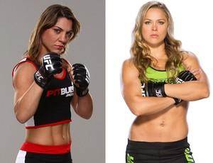montagem MMA Bethe Correia e Ronda Rousey (Foto: Montagem sobre foto da Getty Images)