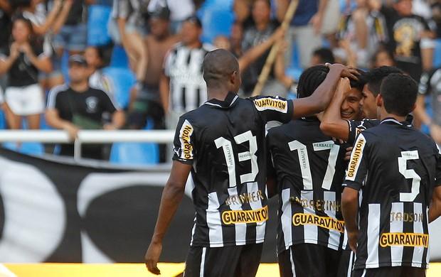 Jogadores gol Botafogo (Foto: Wagner Meier / AGIF)