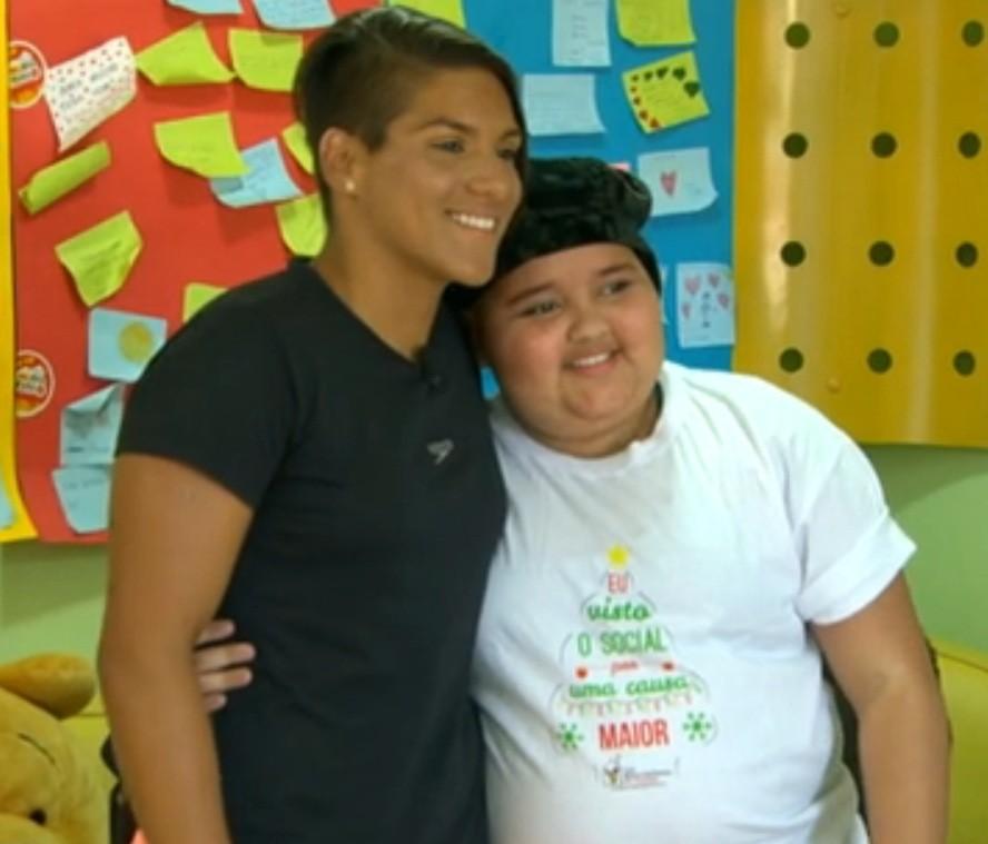 Ana Marcela faz gesto de solidariedade e doa cabelo para crianças com câncer (Foto: divulgação)