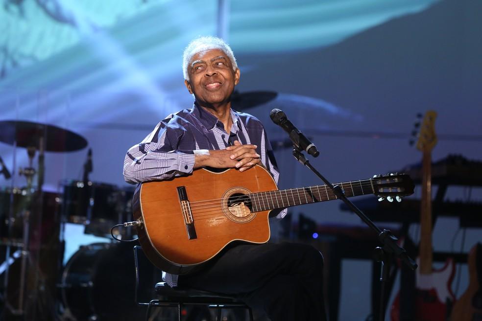 Gilberto Gil soltou a voz no programa (Foto: Carol Caminha/Gshow)
