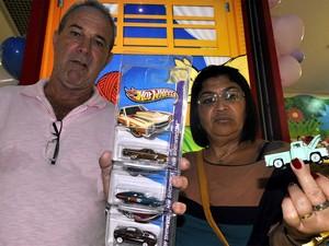 O casal Cecílio Bolanho Filho e Solange Maria de Carvalho, durante evento em Campinas (Foto: Luciano Calafiori/G1)