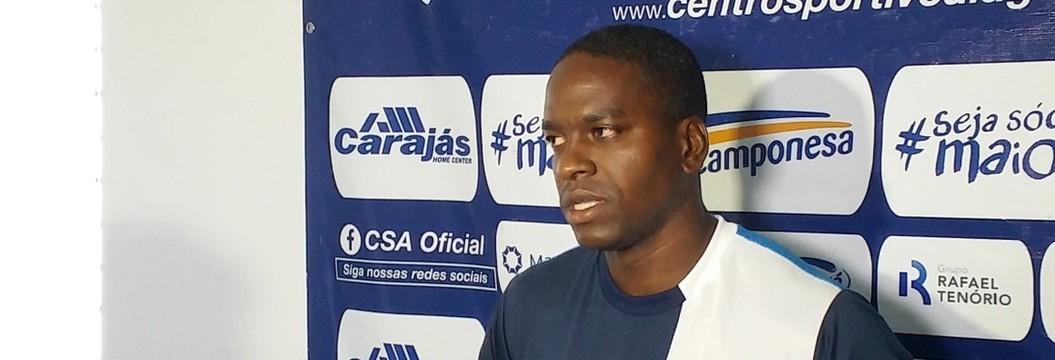 CSA apresenta atacante Marcelo Nicácio (Augusto Oliveira/GloboEsporte.com)