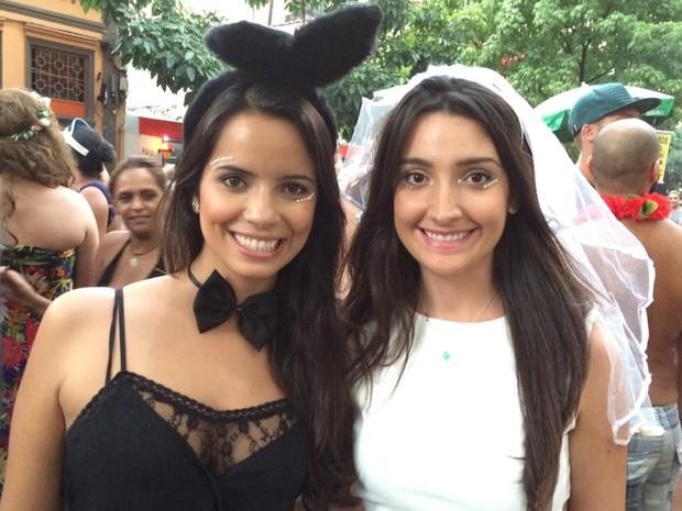 Foliãs curtem bloco em São Paulo (Foto: Flávia Mantovani/G1)