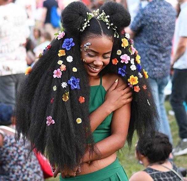 Cabelos do Afropunk (Foto: Reprodução Instagram @stonecoldstyle.la)