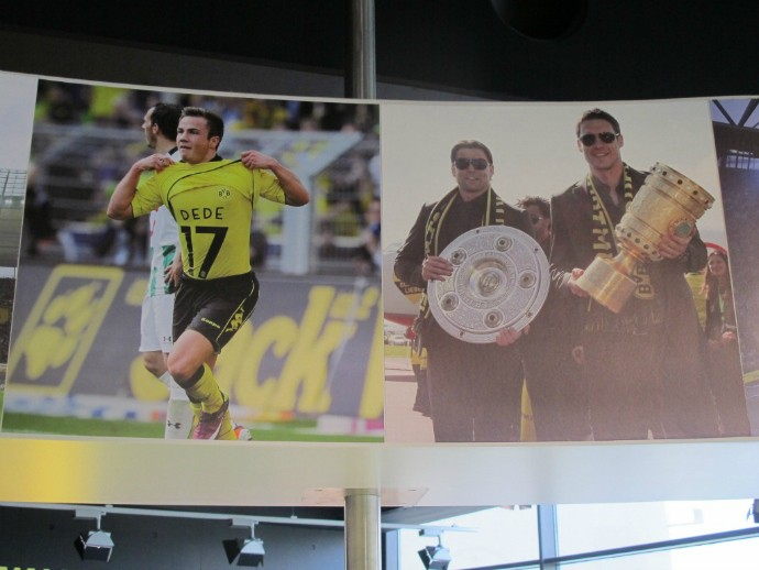 Götze - e Dedê - têm destaque no museu do Borussia