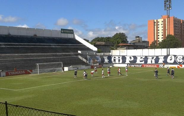 Remo passou fácil pelo São Paulo de Ananindeua e venceu por 10 a 0 (Foto: Márcio Lins/Tv Liberal)