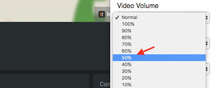 Opção para definir um grau de volume automático para vídeos do YouTube na extensão ImprovedTube (Foto: Reprodução/Marvin Costa)