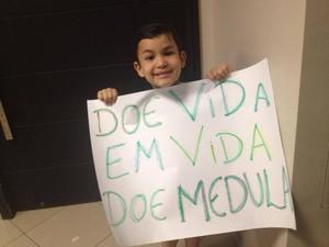 Caio Rodrigues tem leucemia e precisa de transplante de medula óssea (Foto: Arquivo pessoal)