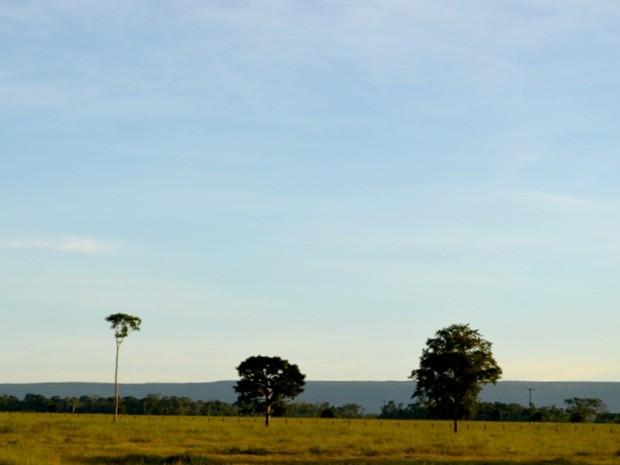Céu claro em Cabixi, RO (Foto: Jonatas Boni/G1)