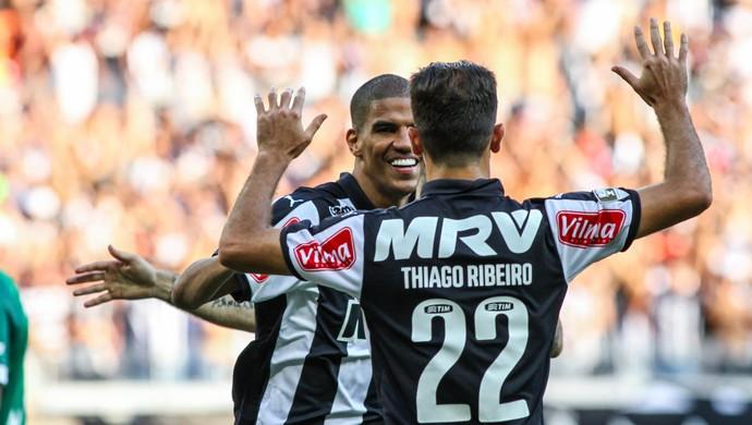 Atlético-MG; Leonardo Silva; Thiago Ribeiro (Foto: Bruno Cantini/CAM)