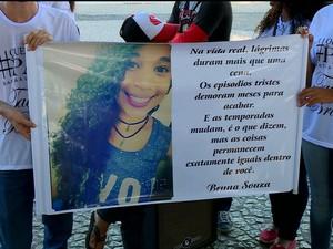 Manifestação contra fim da violência em Petrolina, PE (Foto: Reprodução/ TV Grande Rio)