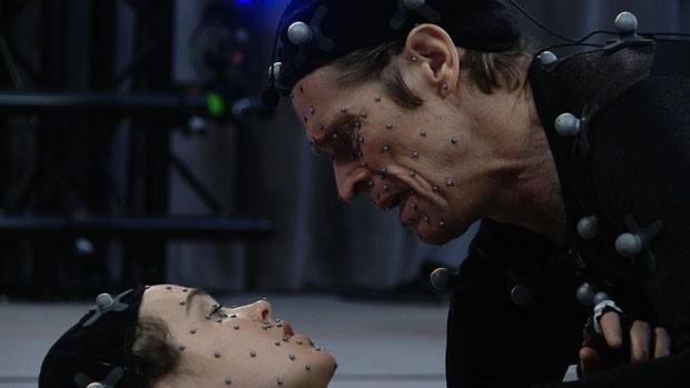 Willem Dafoe e Ellen Page interpretam cena do game 'Beyond: Two Souls' (Foto: Divulgação)