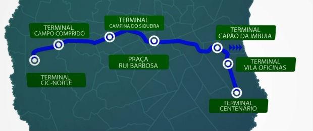 BRT no eixo leste-oeste deve recerber recursos (Foto: Divulgação/ Prefeitura de Curitiba)