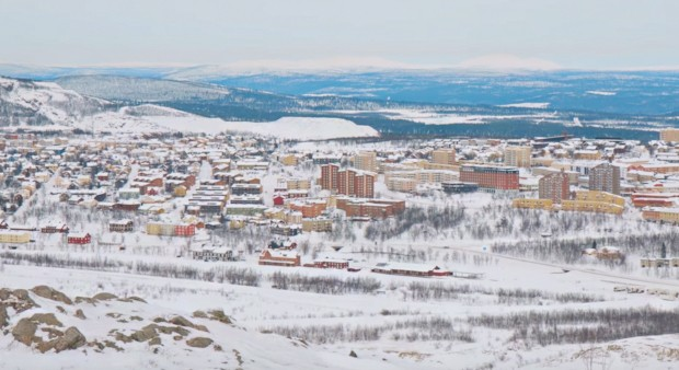 Kiruna, na Suécia (Foto: Reprodução/YouTube)