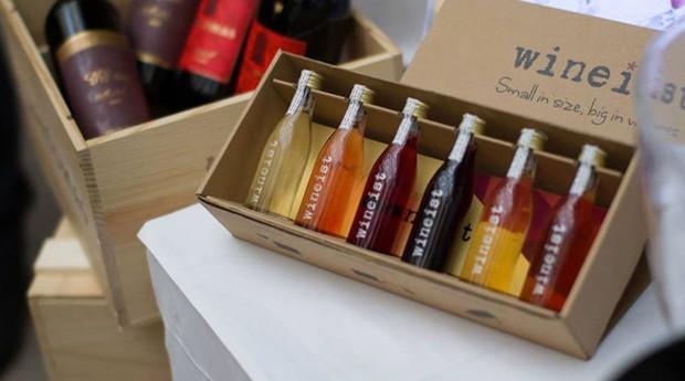 Startup entrega vinho para degustação em pequenas garrafas