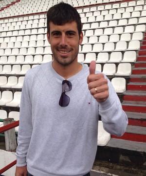 Sebastian Penco, atacante do Once Caldas (Foto: Victor Pozella)