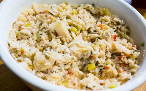 Arroz de bacalhau com lentilhas