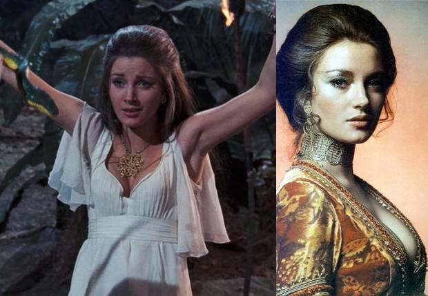 Jane Seymour em 'Com 007 Viva ou Deixe Morrer', de 1973 (Foto: Reprodução)