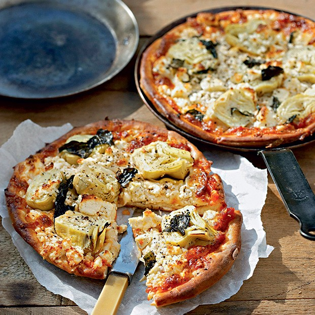 Pizza de alcachofra e queijos (Foto: StockFood / Gallo Images Pty Ltd.)