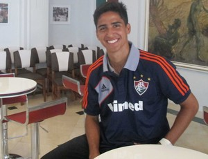 Igor Julião, lateral do Fluminense  (Foto: Rafael Cavalieri/Globoesporte.com)