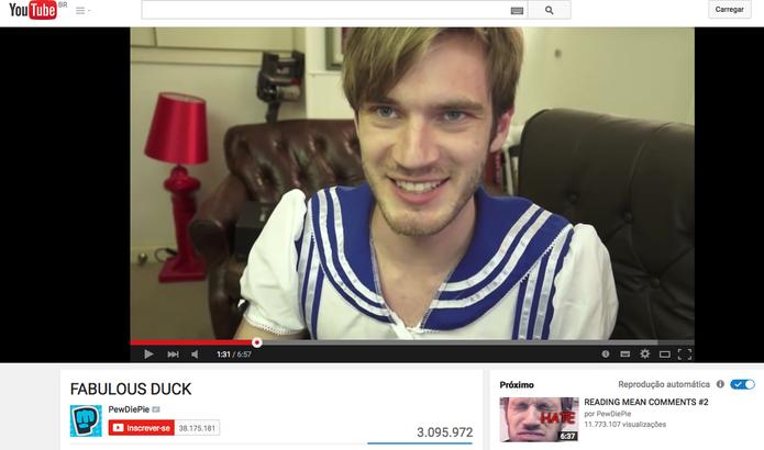 Canal do YouTube de PewDiePie  (Foto: Reprodução / TechTudo)