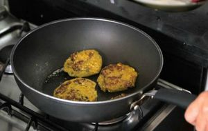 Hambúrguer de abóbora com batata-baroa
