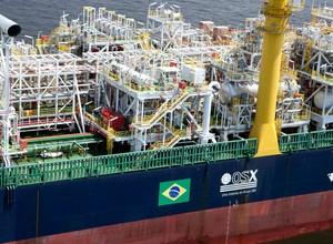 Navio da OSX empresa do Grupo EBX (Foto: Divulgação)