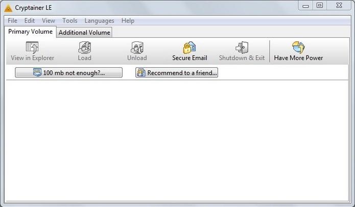 Cryptainer LE usa criptografias Blowfish 448 bit e AES 256 bit (Foto: Reprodução/Raquel Freire)