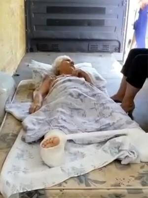 Empresário levou a avó em furgão após recusa de ambulâncias em Ribeirão Preto (Foto: André Balicari/Arquivo pessoal)