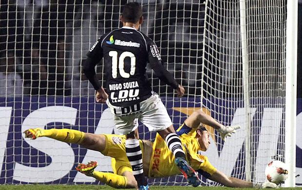 Corinthians x Vasco, Diego Souza (Foto: Agência AP)
