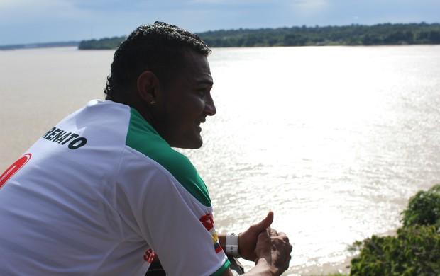 Fabio Renato visita Porto Velho (RO) (Foto: Hugo Crippa/GLOBOESPORTE.COM)