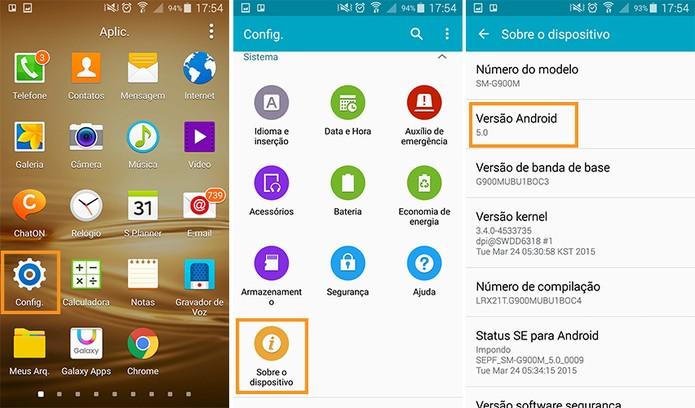 Conferindo a versão do Android instalado no seu smart (Foto: Reprodução/Barbara Mannara)