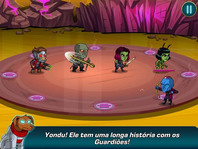 Ao longo das partidas, Cosmos enviará informações sobre inimigos e alertas acerca da saúde dos heróis em combate (Foto: Reprodução/Daniel Ribeiro)