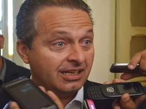 Eduardo Campos, governador de Pernambuco, fala sobre a amizade com Marcelo Déda (Foto: Marina Fontenele/G1)