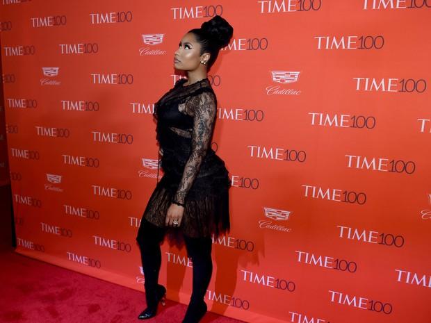 Nicki Minaj em evento em Nova York, nos Estados Unidos (Foto: Timothy Clary/ AFP)