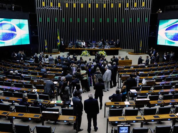 Plenário da Câmara no último dia 7, em ato de reinauguração das rampas de acesso à mesa e à tribuna  (Foto: Laycer Tomaz  / Câmara dos Deputados)