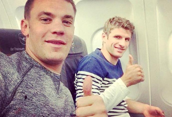 Neuer e Muller alemanha (Foto: Reprodução / Instagram)