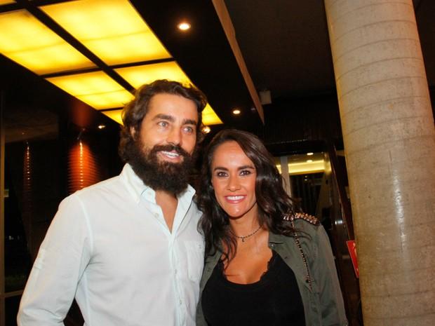 Ricardo Pereira e Francisca Pinto em show no Rio (Foto: Onofre Veras/ Brazil News)