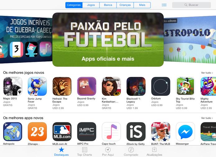 App Store tem muitos aplicativos disponíveis para usuários, mas maior parte está escondida (Foto: Reprodução/Elson de Souza) (Foto: App Store tem muitos aplicativos disponíveis para usuários, mas maior parte está escondida (Foto: Reprodução/Elson de Souza))