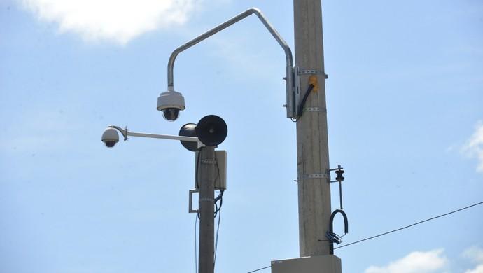 Câmeras de videomonitoramento (Foto: Edson Chagas/A Gazeta)
