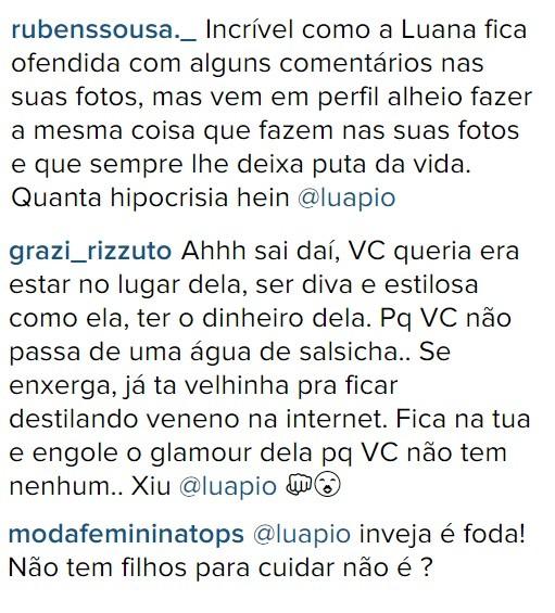 Internautas criticam Luana Piovani após comentário sobre Thássia Naves (Foto: Reprodução/Instagram)