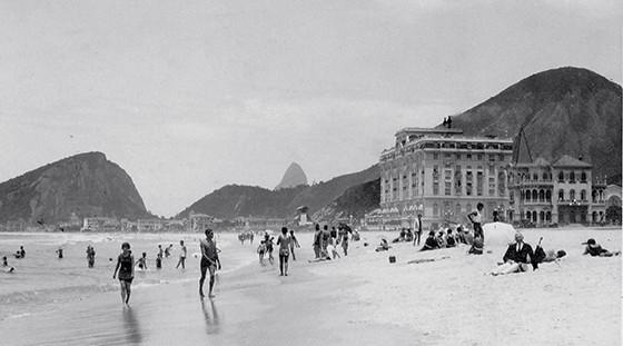 Hotel Copacabana Palace, em 1920 (Foto: Acervo da Casa de Rui Barbosa)