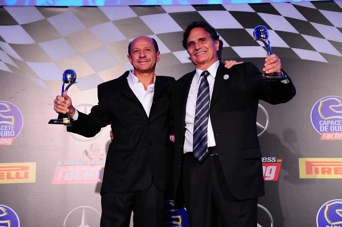Roberto Pupo Moreno e Nelson Piquet no Capacete de Ouro em São Paulo