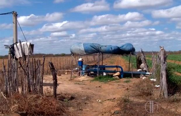 Além da seca, a perfuração indiscriminada de poços também tem causado queda na produção de cebola no interior do RN (Foto: Reprodução/Inter TV Cabugi)