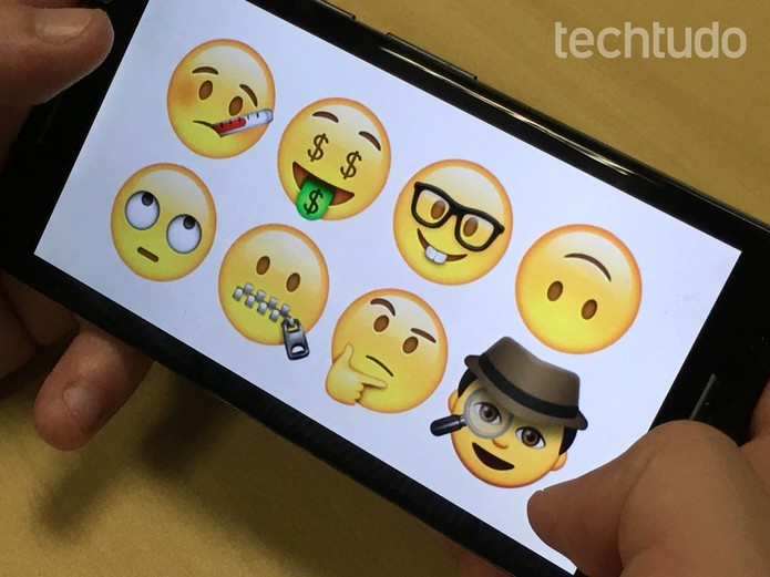 WhatsApp adicionou novos emojis divertidos no app (Foto: Luana Marfim/TechTudo)